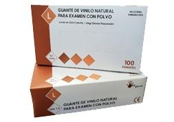Guante de vinilo natural con polvo Ref. 60102