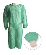 Bata de polipropileno Hospitalaria puños algodón Ref. 65451