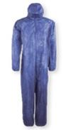 Mono Buzo polipropileno azul con capucha T.L Ref.PO105AZ