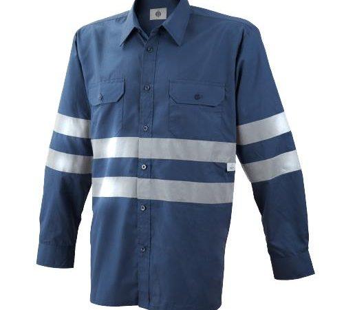 Camisa manga larga 2 bolsillos con bandas Ref. 1020B