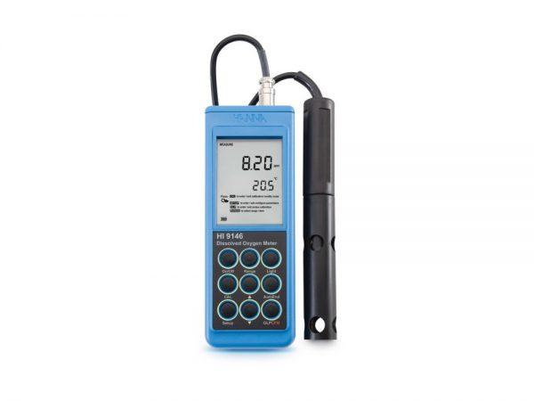 Medidor Oxígeno Disuelto portátil con sonda polarográfica 10 m Ref. HI9146-10