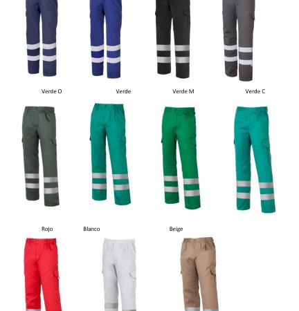 Pantalón multibolsillos con 2 bandas reflectantes y forro Ref. 1001E