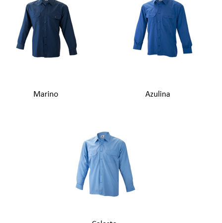 Camisa manga larga 2 bolsillos
