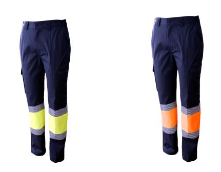 Pantalón multibolsillos combinado stretch con bandas intermitentes Ref. 1061S