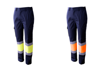 Pantalón multibolsillos combinado con forro stretch con bandas intermitentes A.V. Ref. 1090S