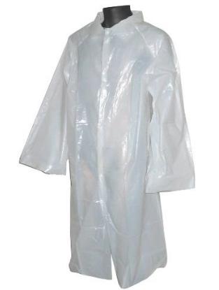 Bata de polietileno Cierre mediante corchetes Ref. 65300