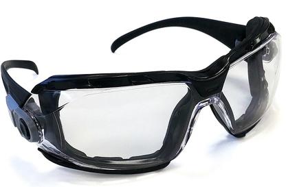 Gafas protectoras 2×1 con espuma. Ref. EVAMOUSS