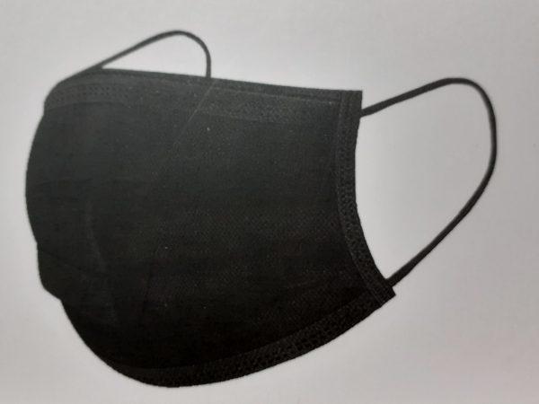 Mascarilla quirúrgica tipo II negro Ref.MK003