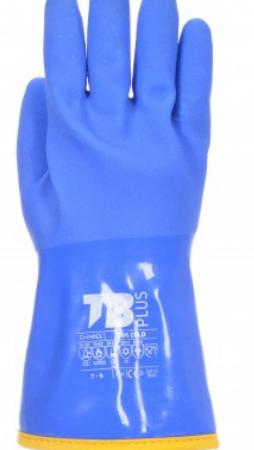 Guante PVC triple baño azul 666COLD